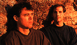 Steve Roach and Robert Rich circa 1989